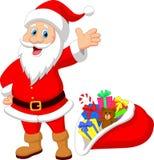 Happy Santa Clause Cartoon With Gift