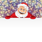 Happy Santa with Copyspace Royalty Free Stock Photography