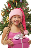 Happy Santa girl Royalty Free Stock Photos