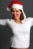 Happy santa girl Royalty Free Stock Photo