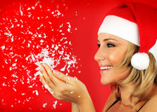 Happy Santa girl Royalty Free Stock Photography