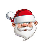 Happy Santa - Head Royalty Free Stock Photography