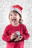 Happy Santa helper Royalty Free Stock Images