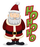 Happy Santa with his Traditional Laugh, Vector Illustration royalty free stock images