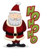 Happy Santa with his Traditional Laugh, Vector Illustration vector illustration