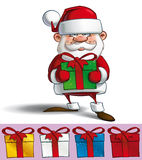 Happy Santa - Holding a Gifts Royalty Free Stock Photography