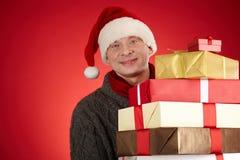 Happy Santa man Stock Images