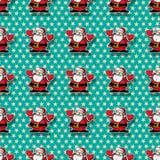 Happy Santa pattern Stock Photography