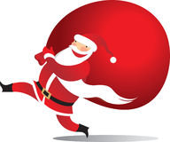 Happy Santa with sack Stock Image