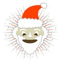 Happy Santa! Vector / Eps8 / Clip Art. An image of a smiling Santa with a star burst background and copy space. Vector / Eps 8 / Clip Art Stock Images