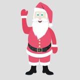 Happy Santa. Happy waving santa for Christmas backgrounds Stock Images