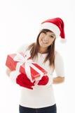 Happy santa woman Royalty Free Stock Image