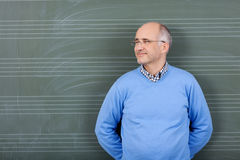 Happy satisfied male teacher Stock Photos