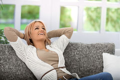 Happy and satisfied Stock Images