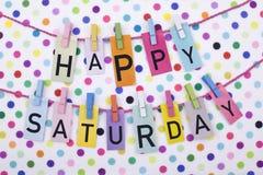 Happy Saturday Stock Photos