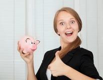 Happy Saver Stock Photo
