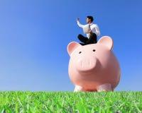 Happy Saving Money Stock Images