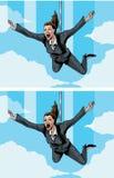 Happy/scared businessmwoman Stock Photos