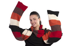 Happy scarf season Royalty Free Stock Image