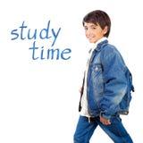 Happy school boy Royalty Free Stock Image