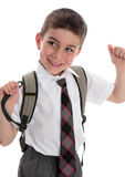 Happy school child Royalty Free Stock Image
