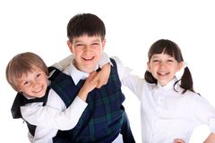 Happy school children Royalty Free Stock Image
