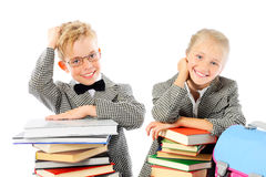 Happy school children with books Stock Image