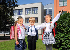 Happy school children Royalty Free Stock Photos
