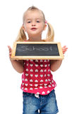 Happy school girl Royalty Free Stock Photo
