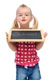 Happy school girl Royalty Free Stock Photo