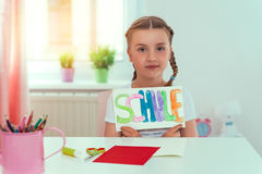 Happy school girl Royalty Free Stock Images