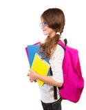 Happy school girl Stock Images