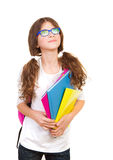 Happy school girl Royalty Free Stock Photography