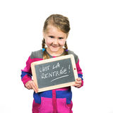 Happy school girl Stock Image
