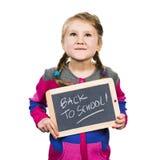 Happy school girl Royalty Free Stock Photos