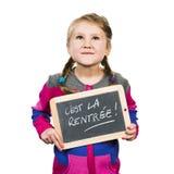 Happy school girl Stock Photo