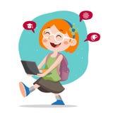 Happy School Kids Vector Illustration Royalty Free Stock Photography