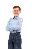 Happy schoolboy Stock Images