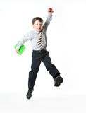 Happy schoolboy Stock Photos