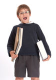 Happy schoolboy with books Stock Photography