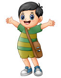 Happy schoolboy cartoon Stock Photo