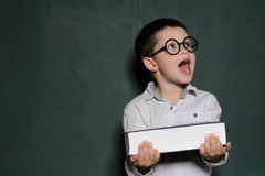 Happy schoolboy. Royalty Free Stock Photo