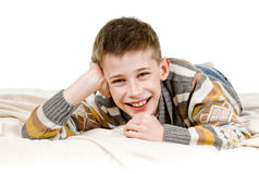 Happy schoolboy Royalty Free Stock Photos