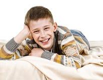 Happy schoolboy Royalty Free Stock Image