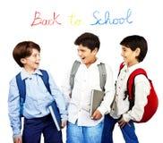 Happy schoolboys royalty free stock photography
