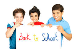Happy schoolboys Royalty Free Stock Image
