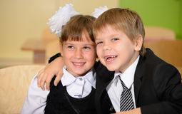 Happy schoolchild. Stock Photography