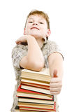 Happy schoolchildren with books Royalty Free Stock Image