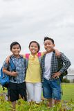 Happy schoolchildren Stock Photos
