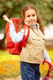 Happy schoolgirl Stock Photography